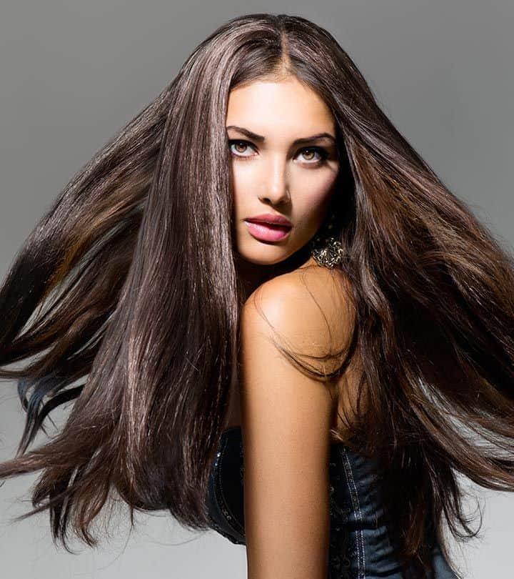 Chica con cabello largo moreno
